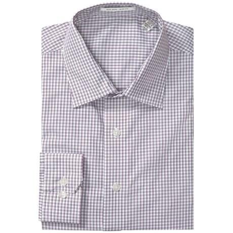 Patterned Slim Fit Dress Shirt - Long Sleeve (For Men)