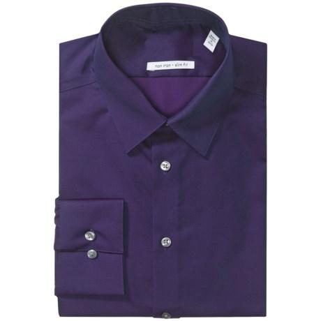 Solid Slim-Fit Dress Shirt - Long Sleeve (For Men)