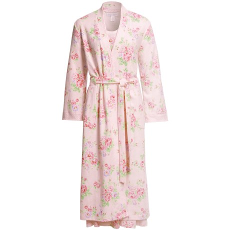 Carole Hochman Dahlia Bourbon Kimono Robe - Long Sleeve (For Women)