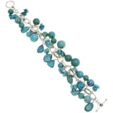 Silver Express Turquoise Nugget Bracelet - Sterling Silver