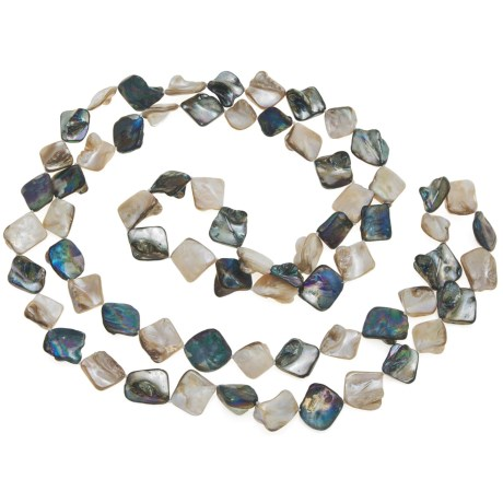 """Silver Express Multicolored Shell Necklace - 52"""""""