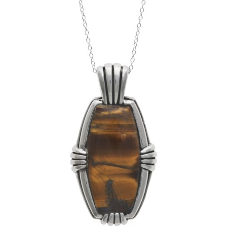 Silver Express Tiger's Eye Necklace - Sterling Silver