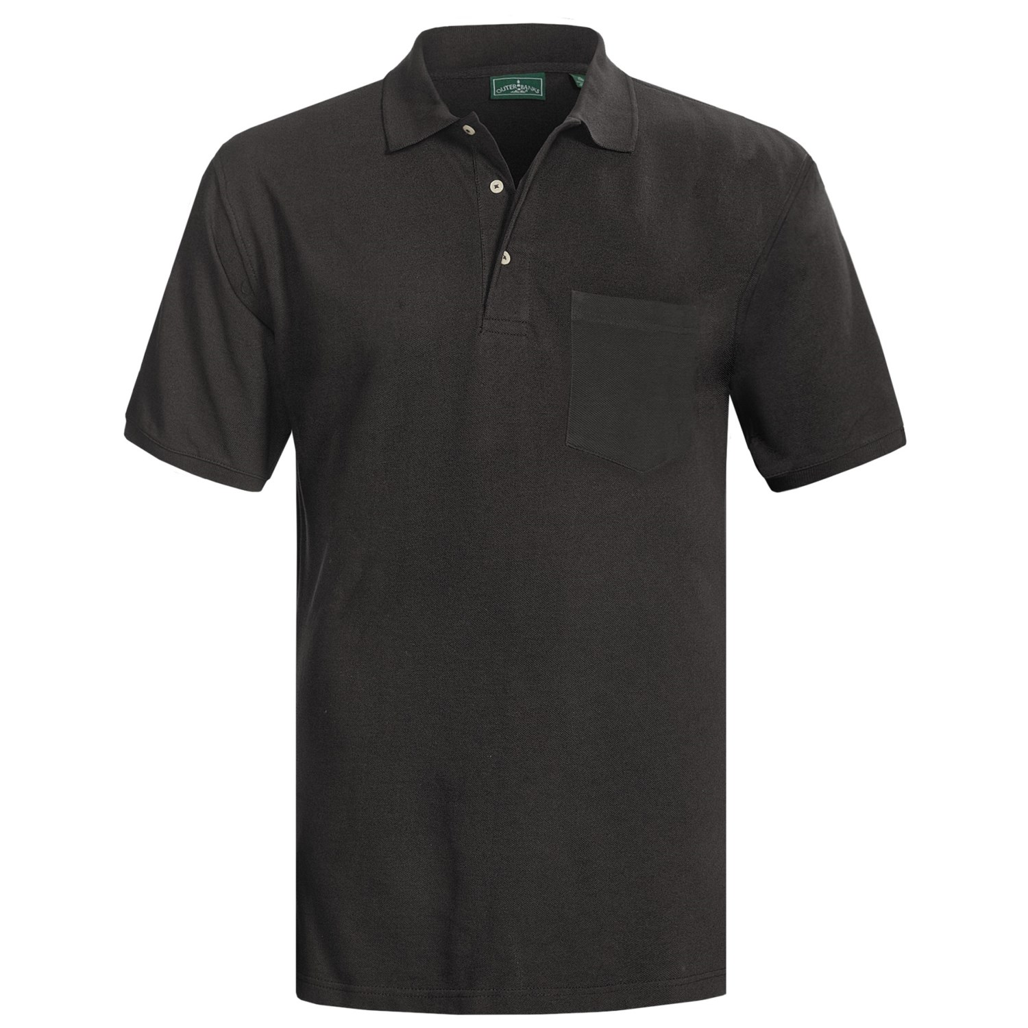 Outer banks ultimate cotton polo shirt for men 5191a for Men s cotton polo shirts with pocket