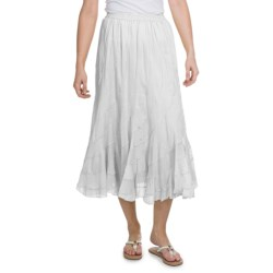 Casual Studio Swirl Cotton Voile Skirt (For Women)