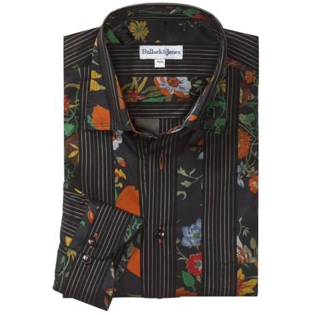 Bullock & Jones Cotton Rich Sport Shirt - Long Sleeve (For Men)