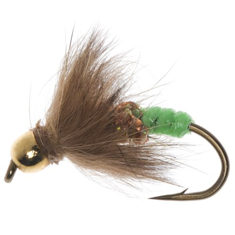 Dream Cast Bead Head GB Brer Possum Green Butt Nymph Fly - Dozen
