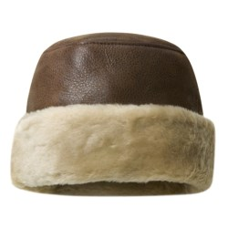 Aston Leather Shearling Rounded Hat (For Men)