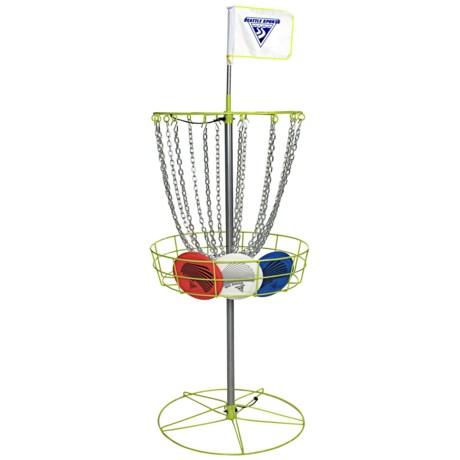 Seattle Sports Disc Golf Set - Basket, Three Discs