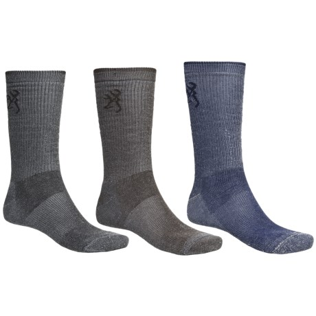 Browning Ultra Dri Socks - Crew, 3-Pack (For Men)
