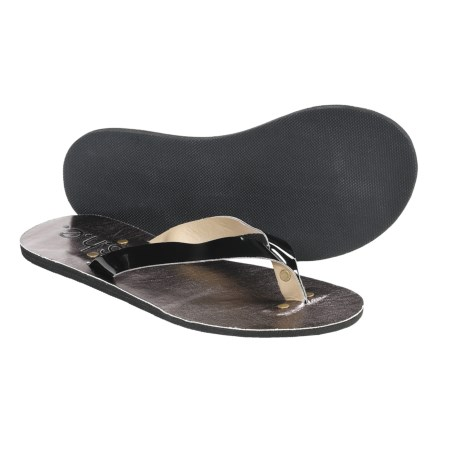 S.H.E. Metallic Sandals - Flip-Flops (For Women)