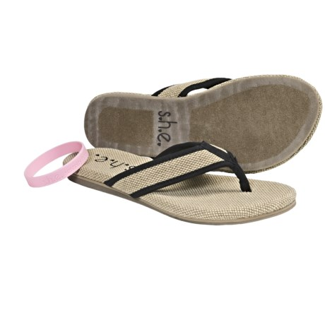 s.h.e. S.H.E. Hemp Sandals - Flip-Flops (For Women)