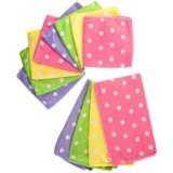 DII Polka-Dot Microfiber Dish Towels and Cloths - 12-Pack
