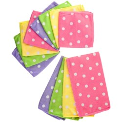 DII Polka-Dot Microfiber Dish Towels and Cloths - 12-Pack