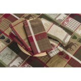 DII Trail Tracks Jacquard Cloth Napkins - Set of 6, Cotton