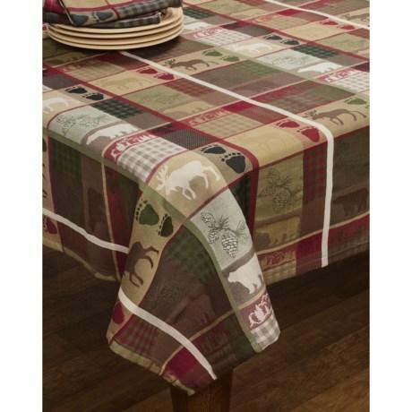 """DII Trail Tracks Jacquard Tablecloth - 52x52"""""""