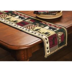 DII Log Cabin Tapestry Table Runner