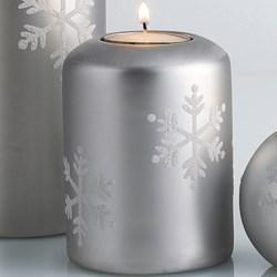 """DII Tea Light Holder - 4"""" Pillar, Ceramic"""