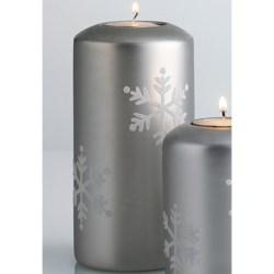 """DII Tea Light Holder - 6"""" Pillar, Ceramic"""
