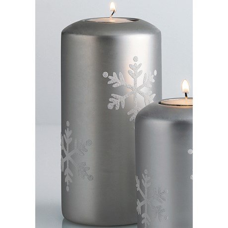 "DII Tea Light Holder - 6"" Pillar, Ceramic"