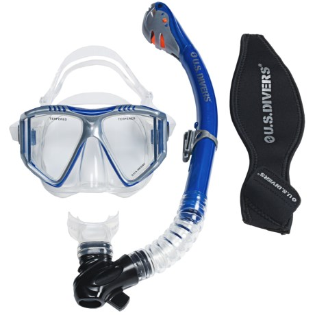 U.S. Divers Lux Purge LX Grenada Mask and Snorkel Combo (For Men and Women)