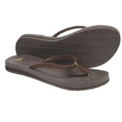 Sanuk Yoga Twist Flip-Flops - Leather (For Women)