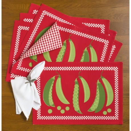 DII Vegetable Placemats - Set of 6, Reversible