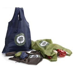 DII Packable Nylon Grocery Bags - Set of 6