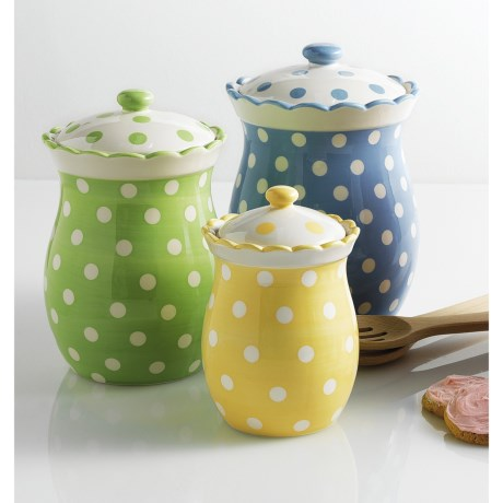 DII Tea Party Canisters - Set of 3