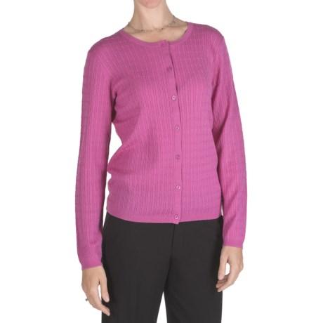 Pendleton Cable-Knit Cardigan Sweater - 14-Gauge Merino Wool (For Women)