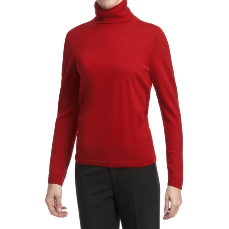 Pendleton Classic Turtleneck Sweater - Merino Wool (For Women)