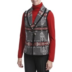 Pendleton Crossroads Riata Wool Vest - Suede Trim (For Women)