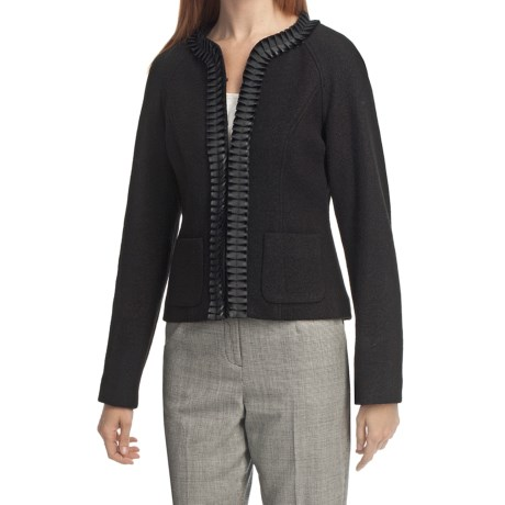 Pendleton Stewart Tartan Royal Ribbon Jacket - Boiled Wool (For Plus Size Women)