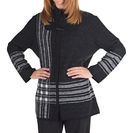 Pendleton Stadium Sweater Coat - Merino Wool (For Plus Size Women)