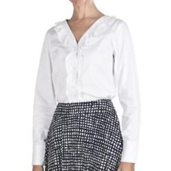 Pendleton Ruffle-Trim Cotton Shirt - Long Sleeve (For Women)