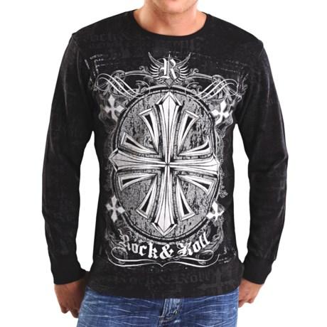 Rock & Roll Cowboy Shield Cross Thermal Shirt - Long Sleeve (For Men)