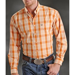 Rough Stock Ombre Satin Plaid Shirt - Button Front, Long Sleeve (For Men)