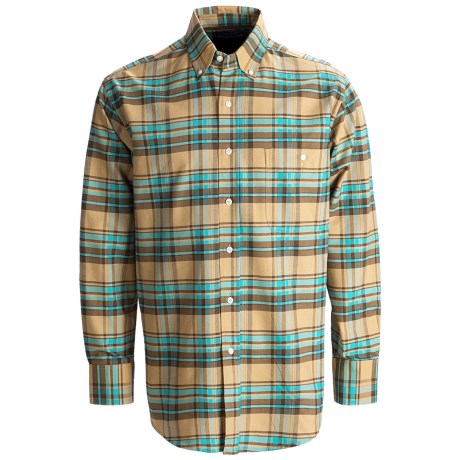 Rough Stock Oxford Plaid Shirt - Button Front, Long Sleeve (For Men)