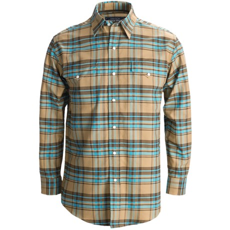 Rough Stock Oxford Plaid Shirt - Snap Front, Long Sleeve (For Men)