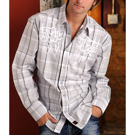 Panhandle Slim 90 Proof Lurex® Plaid Embroidered Western Shirt - Snap Front, Long Sleeve (For Men)