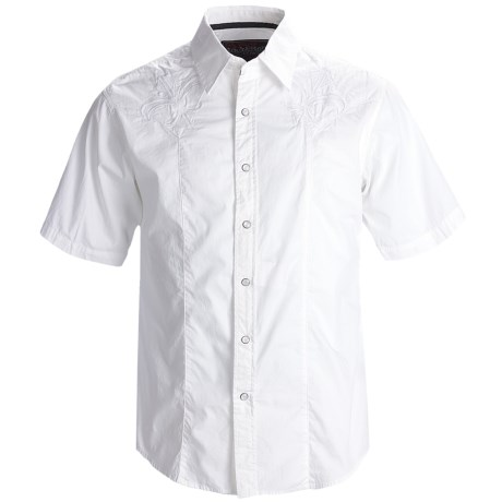 Rock & Roll Cowboy Western Shirt - Cotton Poplin, Snap Front, Short Sleeve (For Men)