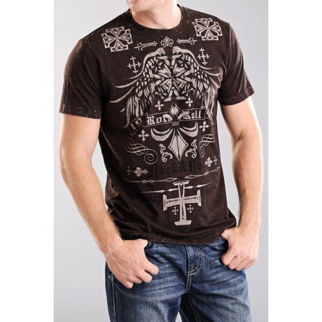 Rock & Roll Cowboy Snow Crush T-Shirt - Short Sleeve (For Men)