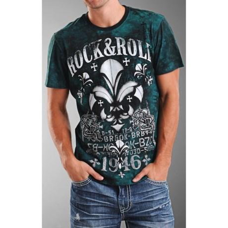 Rock & Roll Cowboy Logo Tie-Dye T-Shirt - Short Sleeve (For Men)