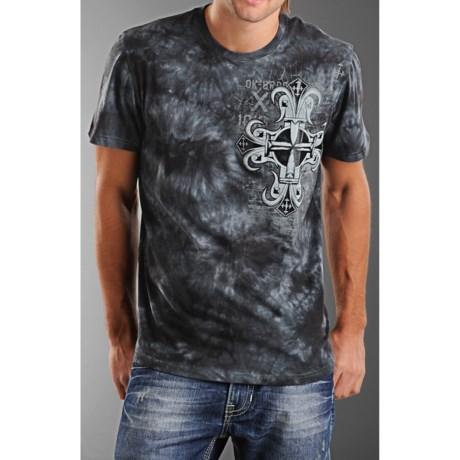 Rock & Roll Cowboy Cross Art T-Shirt - Short Sleeve (For Men)