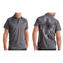 Rock & Roll Cowboy Embroidered Knit Polo Shirt - Short Sleeve (For Men)