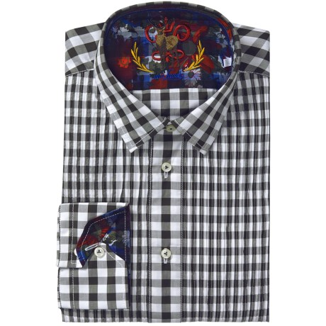 Van Laack Pintuck Shirt - Long Sleeve (For Men)