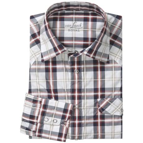 Van Laack Tailored Fit Sport Shirt - Snap Front, Long Sleeve (For Men)