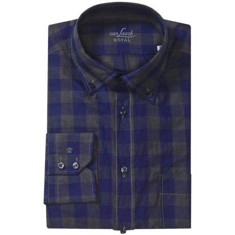 Van Laack Tailored Fit Chest Pocket Shirt - Long Sleeve (For Men)
