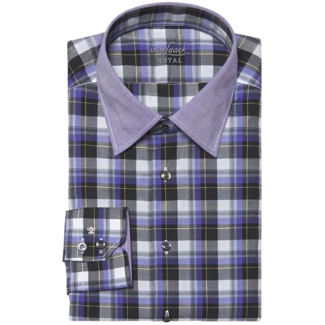 Van Laack Remco Tailored Fit Shirt - Spread Collar, Long Sleeve (For Men)