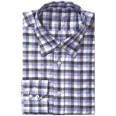 Van Laack Regular Fit Check Dress Shirt - Hidden Button Down Collar, Long Sleeve (For Men)
