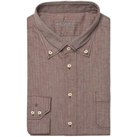 Van Laack Tailored Fit Faint Herringbone Shirt - Long Sleeve (For Men)